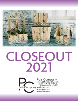 Pots Company Closeout 2021 Catalog